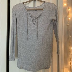 Aerie V-neck tied sweater
